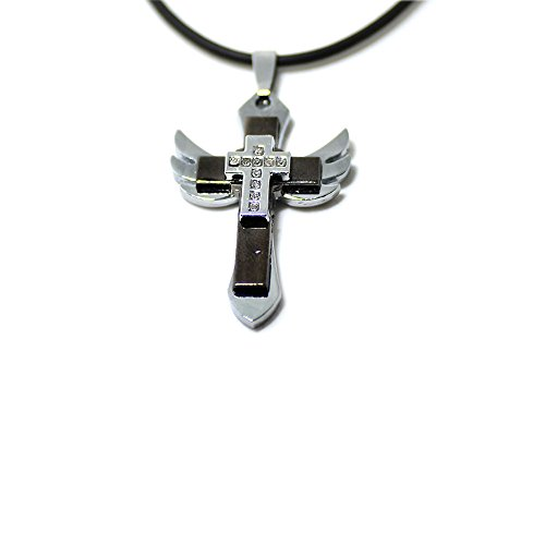iLH Clearance Deals Unisex Men Stainless Steel Cross Pendant Necklace Jewelry Boy&Men Gift by ZYooh (z Black)