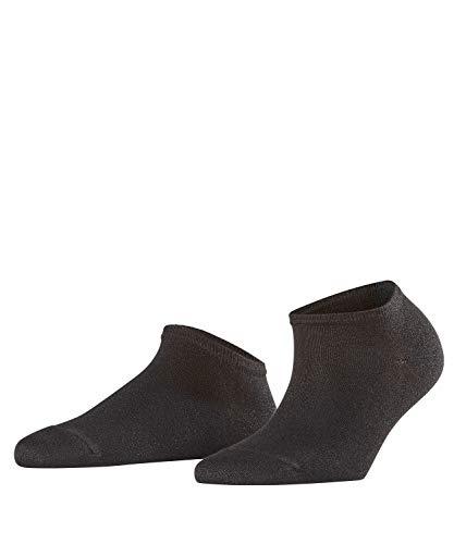 FALKE Damen Sneakersocken Shiny - Viskosemischung, 1 Paar, Schwarz (Black 3000), Größe: 39-42