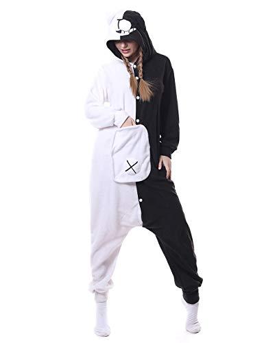 Nobranded Adult Monokuma Onesies Pajamas Cosplay Animal Homewear Sleepwear Jumpsuit Costume for Women and Men, Medium