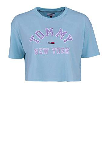Tommy Hilfiger Damen T-Shirt Türkis türkis, 6275, Türkis, 6275 Large
