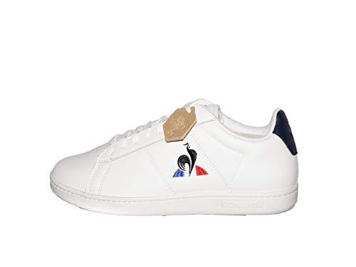 Le Coq Sportif Unisex-Erwachsene Courtset Optical White/Dress Blue Sneaker, Optisches Weiß/Kleiderblau, 44 EU