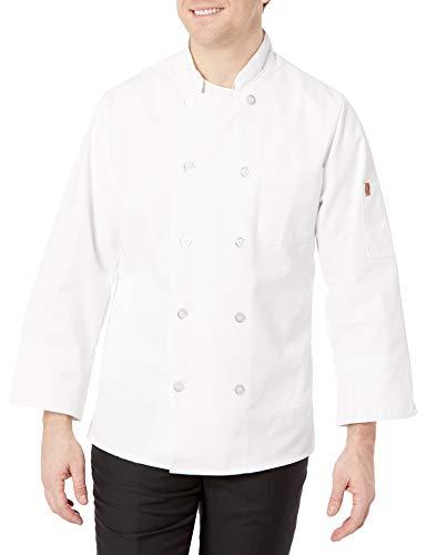 Chef Designs Men's Rk Ten Pearl Button Chef Coat, White, Small (415)
