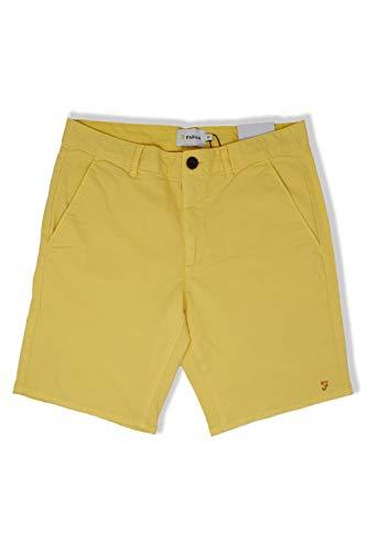 Farah Herren Chino-Shorts mit schrägen Taschen in Acid Yellow -  Gelb -  46