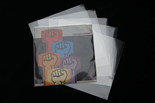 50 Stück Premium Single Schutzhüllen hoch transparent 185x185 mm Vinyl 7 Zoll Sleeve