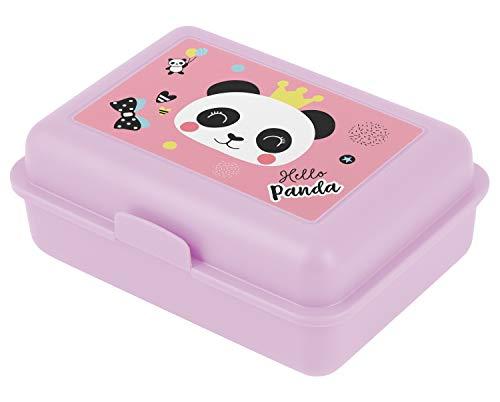 Baagl Brotdose Kinder für Schule – Lunchbox für Mädchen, Kindergarten – Jausenbox, Brotzeitbox, Brotbox, Snackbox (Panda)