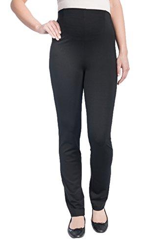 Christoff - Pantalon Extensible été légers Jeans Look Femme Maternité 530/46 Skinny/Slim Fit Ceinture Confortable - Noir, 46