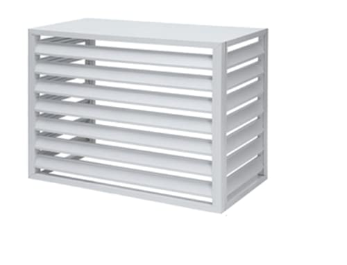 reshare – Protezione e copertura per condizionatore esterno, pompa di calore in alluminio, 100 x 70 x 50 cm, 4 lati B