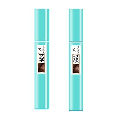 L'Oréal Paris Magic Retouch Précision Mascara pour cheveux Châtain 8 ml - Lot de 2