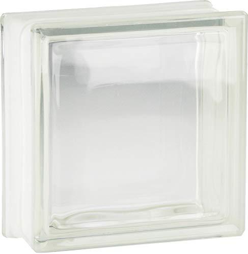5 Stück FUCHS Glassteine Vollsicht Klar 19x19x8 cm