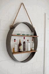 Iron Orb Wall Shelf