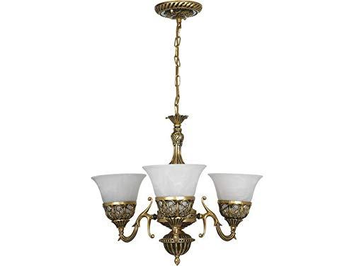 Kroonluchter Shabby Chic/messing, wit / 3 lampen / E27 / jeugdstijl kroonluchter/plafondlamp woonkamer jeugd stijl/stijlvolle eetkamer verlichting/slaapkamer lamp