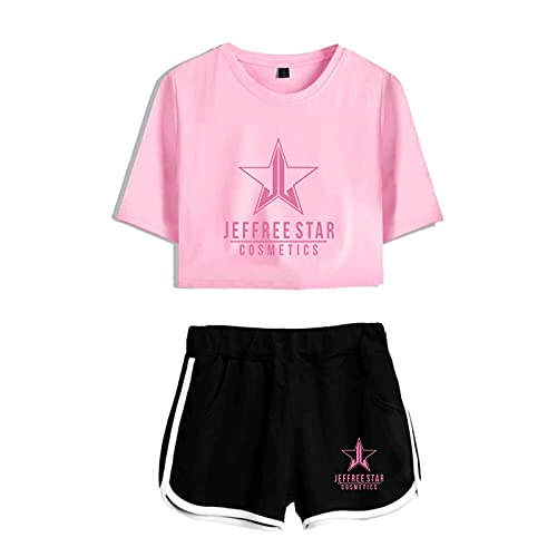 CCEE Jeffree Star Navel T-Shirt Casual Shorts 2021 Neuer Sexy Zweiteiliger Anzug Harajuku Cotton Plus Polyester Fashion Breathable