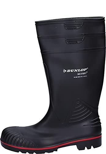 Dunlop A442031 S5 ACIF. KNIE ZWART 42, Unisex-Erwachsene Halbschaft Gummistiefel, Schwarz (Schwarz(Zwart) 00), 42 EU