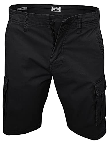 JACK & JONES Herren Zack Cargo Shorts, Black, L
