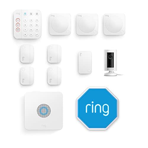 Ti presentiamo Ring Alarm   Kit da 11 pezzi con sirena per esterni e Ring Indoor Cam da Amazon - Sistema per sicurezza domestica con monitoraggio assistito (opzionale) - Senza vincoli di lunga durata