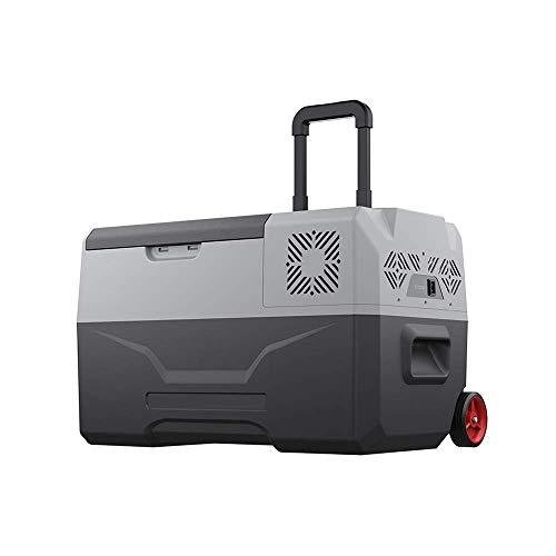 HRRF Mini refrigerador portátil de 30 litros, refrigerador de Coches pequeños Congelador Compacto, congelación del compresor -68 ° F, AC/DC, Panel LCD Digital, Mudo