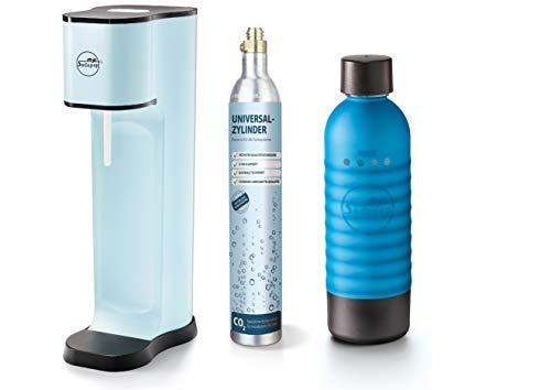 mySodapop Joy Fashion emotion blue inklusive 1 PET Flasche und 1 CO2-Zylinder für 60L Sprudelwasser Soda Wasseraufbereiter Trinkwassersprudler