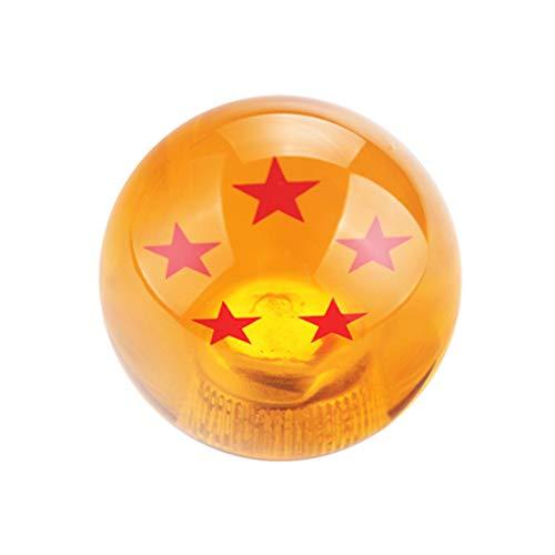 DEWHEL 54MM Dragon Ball Z Manual Gear Shift Shifter knob JDM 4 5 6 Speed 4 Star Round Universal Fit for Honda Acura Mazda Mitsubishi Nissan Infiniti Lexus Toyota Scion BRZ Hyundai Ford Jeep etc