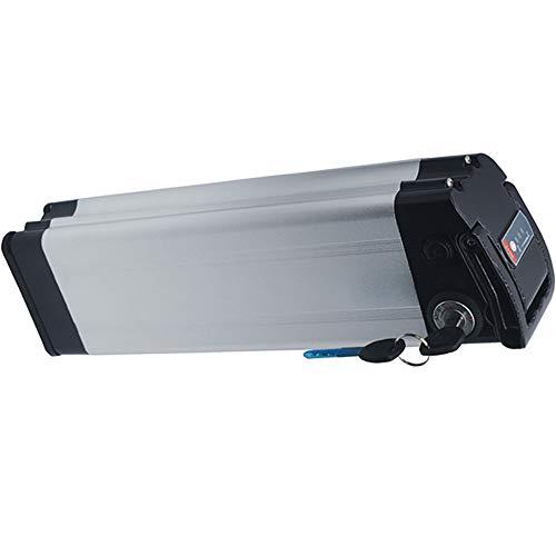 X-go Batteria Bici Elettrica 36v Litio Litio Ebike 36V 10ah con Caricabatterie, Display del Livello di Potenza e Scheda di Protezione BMS 18A e Blocco di Sicurezza Scarica a 4 Pin (Magazzino Europa)