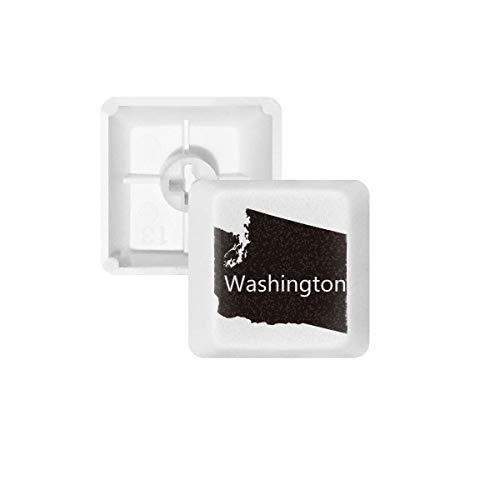 DIYthinker Washington De Verenigde Staten Kaart PBT Keycaps voor Mechanisch Toetsenbord Wit OEM Geen Markering Print, R4, Multi kleuren