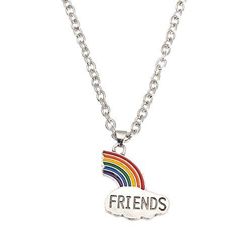 BBF Sisters - Collares para regalo de San Valentín (1 unidad), diseño de arco iris