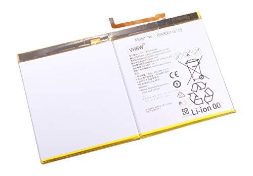 vhbw Batería Recargable Compatible con Huawei Mediapad M2-A01L, M2-A01W, T2 10.0 Pro Premium Tablet, Pad (6650 mAh, 3,8 V, polímero de Litio)