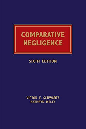 Comparative Negligence (English Edition)