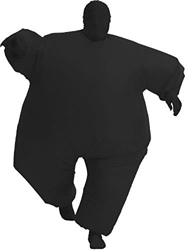 Inflatable Teen Chub Suit Costume (Black)
