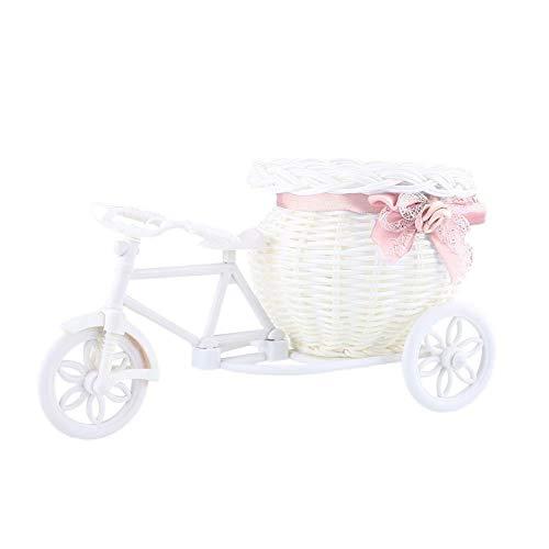 GJDBBLY mand bloem plastic witte driewieler fiets ontwerp mand container voor bruiloft Vaas Holloween Decor