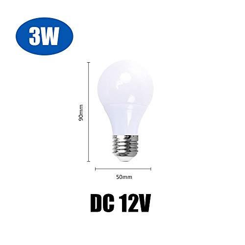 RZL LED Lights, Lampe LED basse tension Ampoules, DC 12V E27 LED Lampada 3W 5W 7W 12W 15W 36W Bombillas Led 12V 10PCS / LOT (Couleur : Cold White)