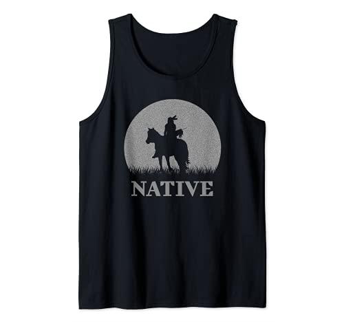 Diseño estético inspirado en los indios nativos americanos a Camiseta sin Mangas