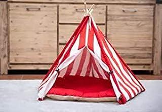 Hund-tipi-tält, hem och tält med spets för hund eller husdjur, avtagbar och tvättbar med matraze