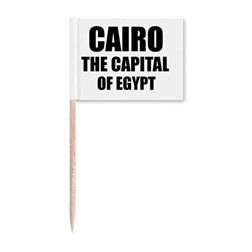 Cairo The Capital of Egypt Zahnstocher Flags Marker Topper Party Dekoration