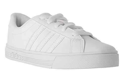 adidas Daily Team K, Chaussures de Fitness Mixte Enfant, Blanc Ftwbla/Griuno, 38 EU