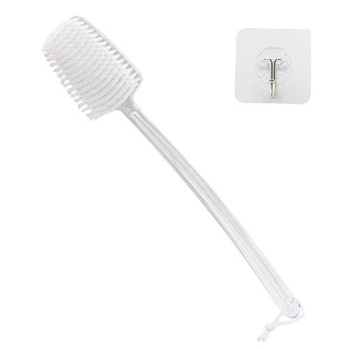 Mczcent Rückenbürste mit Kunststoff Langem Stiel, Trockenbürste Körperbürste Plastik Lang Dusche Bath Back Dry Body Exfoliating Brush Duschbürste Rücken Kunststoff Badebürste für Peeling, XL