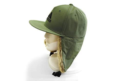 (アディダス)adidasドッグイヤーキャップ111804メンズ紳士飛行帽帽子ハット防寒対策イヤーフラップフライトキャップ耳あてアウトドア登山フェイクファーカジュアルネット通販秋冬(ダークグリーン)