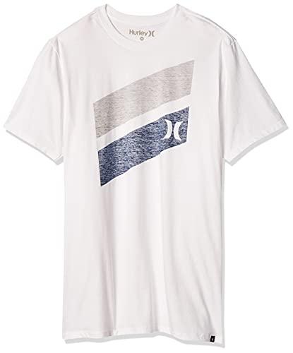 Hurley Men's Premium Icon Slash Graphic Short Sleeve Tee Shirt, white,...