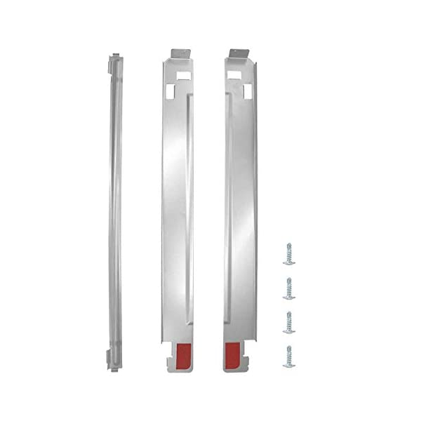 AMI PARTS 27 inch KSTK1 Chrome Laundry Stacking Kit Compatible with Stackable LG Washer and Dryers