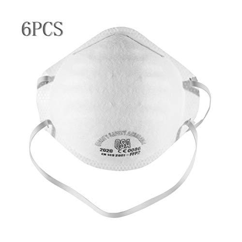 FFP2 QSA 2020 anti-inquinamento uguale al filtro N95 anti-PM2.5 tondo protettivo unisex esterno - 6 PZ