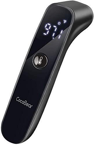 Termometro per bambini Cocobear, termometro per fronte febbre, termometro per bambini e adulti, lettura istantanea e accurata per corpo, superficie e stanza
