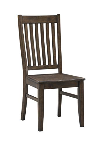 Coast To Coast Imports Rubberwood Dining Chair in Orchard Brown Finish