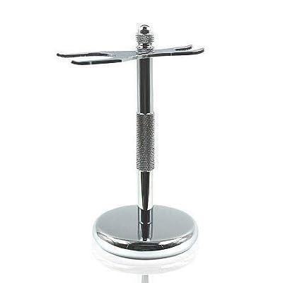 YNR Stylish Chrome Razor & Shaving Brush Shaving Stand Holder Drip Stand