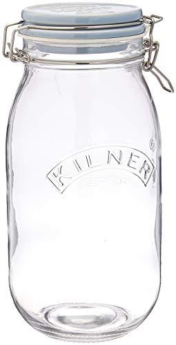 Kilner 2 liter glas Clip Top vogel voedsel pot met keramische deksel