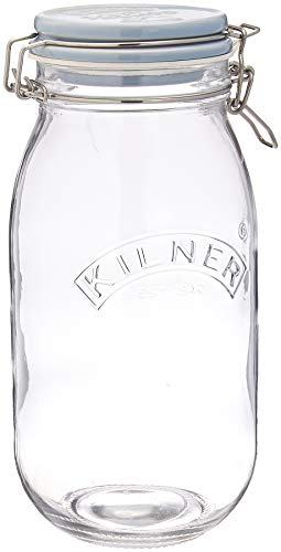 Kilner - Tarro de cristal con tapa de cerámica, 2 litros, 13,5 x 12,5 x 25,5 cm
