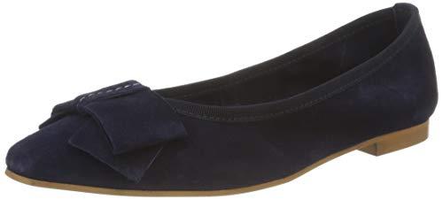 MARCO TOZZI 2-2-22122-26 Veloursleder Ballerina, Zapatos Tipo Ballet Mujer, Azul Marino, 40 EU