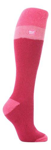 LONG SKI Heat Holders Thermal Socks womens RasberryBaby pink 4 8 uk 37 42