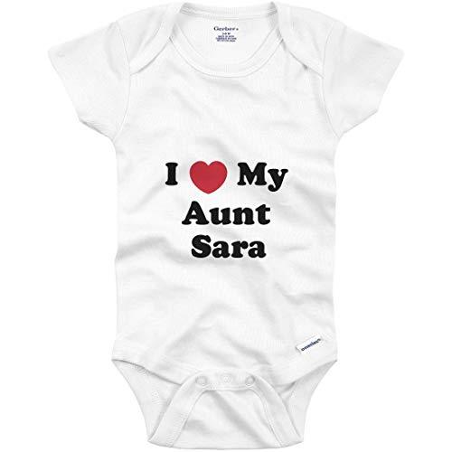 gerber aunt for babies I Love My Aunt Sara: Baby Onesie
