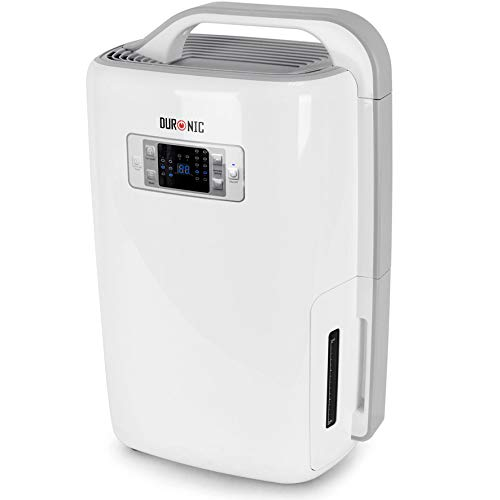 Duronic Dehumidifier DH20   20L in a Day   4L Tank Capacity   Prevent & Remove Mould, Damp and Condensation   Laundry Dryer   Timer   Digital Display   Ultra-Quiet   for Humidity and Moisture Removal