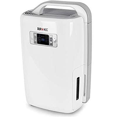 Duronic Dehumidifier DH20 | 20L in a Day | 4L Tank Capacity | Prevent & Remove Mould, Damp and Condensation | Laundry Dryer | Timer | Digital Display | Ultra-Quiet | for Humidity and Moisture Removal