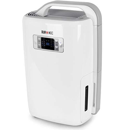 Duronic DH20 Deshumidificador de Aire Eléctrico Silencioso de 20 litros con 3 Prefunciones para Combatir Humedad, Moho y Condensación/Ideal para Cocina, Dormitorio, Caravana, Oficina